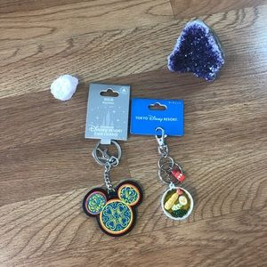 Lot of 2 Disneyland collectible keychains